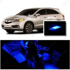 For Acura RDX 2007-2012 Blue LED Interior Kit + Blue License Light LED