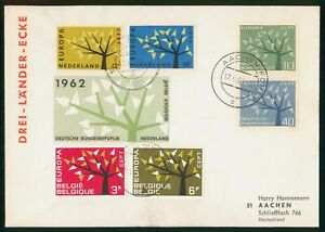 Mayfairstamps Germany 1962 Netherlands Belgium Mixed Frank Europa Trees First Da