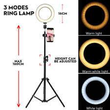Dimmable Studio LED Ring Light with Stand Photo Video Lamp For Camera Phone UK