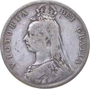 Better - 1889 Great Britain 1/2 Crown - TC *361