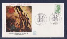 enveloppe 1er jour  Liberté  B  vert  Paris   1987