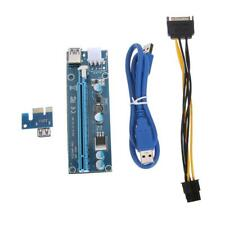 60cm USB3.0 PCI-E Express 1x To 16x Port Extender Riser Card Adapter Power Cable