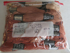 Vintage DMC Taperstry 100% Wool Rose Mauve Rust 33pc