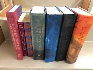 Harry Potter Complete Book Set 1-7 by J. K. Rowling MIXED PAPERBACK  HARDCOVER