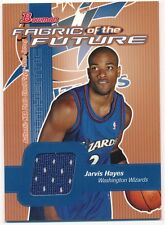 JARVIS HAYES 2003/04 BOWMAN RC ROOKIE FABRIC OF FUTURE RELIC JERSEY SP