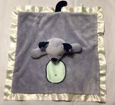 Douglas Puppy Dog Blue Gray Lovey Security Blanket Satin Trim