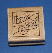 NEW Stampendous 'Thanks Wave' C171 Wooden Backed Rubber Stamp - SALE