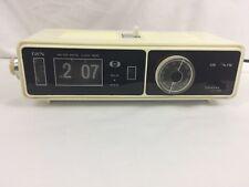Vintage DYN Flip Number Clock Radio AM FM Works