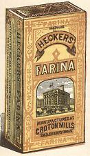 1880 HECKERS FARINA TRADE CARD, ICE PUDDING, HEALTHFUL, PALATABLE TC139