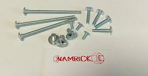 METRIC ROOFING BOLTS WITH SQUARE NUT BZP M5 M6 M8