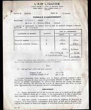 """MONTLUCON ,AUBUSSON (03 / 23) AIR LIQUIDE OXYGENE ACETYLENE """"L'AIR LIQUIDE"""" 1948"""