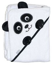 """Extra Large 40""""x30"""" Absorbent Hooded Towel, Panda, Frenchie Mini Couture"""