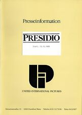 The Presidio Presseheft press book Sean Connery, Mark Harmon, Meg Ryan, Warden