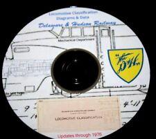 Delaware & Hudson Railway 1972 Locomotive Diagrams & Data PDF Pages  DVD