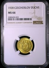 Czechoslovakia 1928 Gold Trade Dukat *NGC MS-66* Ducat Only 1 Graded Higher