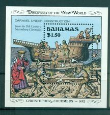BATEAUX- SHIP BAHAMAS 1989 Discovery of America 500th Anniv. block