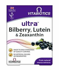 Vitabiotics Ultra Bilberry Lutein and Zeaxanthin With Anthocyanins 30 Tablets