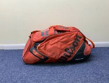 Wilson K Factor Tour  Red  with black Tennis Racket duffle pack *READ