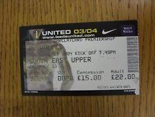 10/02/2004 BIGLIETTO: Leeds United V Wolverhampton Wanderers. questo oggetto è stato in