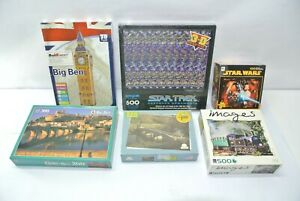 Lot of (6) NEW Assorted Jigsaw Puzzles 30, 100, 300 & 500 pieces