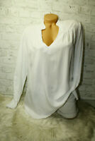 Italy Shirt  Long puder Tunika Bluse Gr. 36 38 40 42 blogger weiß blogger