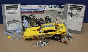 Aurora Racing Scenes 845 847 Chevy Vega Funny Car Kit 1:16 1974 Built Nice!