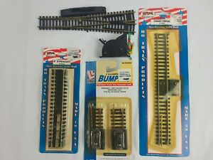 Lot of New HO Scale Atlas & Life Like Train Track, Switches and Bumpers