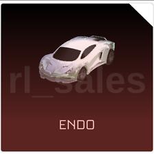 Xbox One Rocket League WHITE ENDO PAINTED Titanium White Turbo Crate Import Car