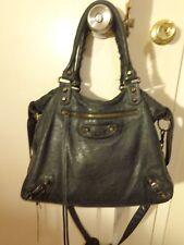Balenciaga Velo 235216 black leather bag shoulder crossbody satchel CUTE