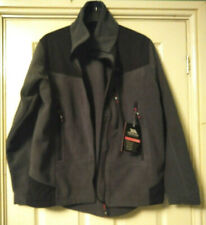 "TRESPASS AT300 Grey Black Long Sleeve Mens Fleece Jacket L Large 41"" - 43"" Chest"