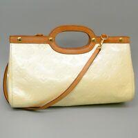 LOUIS VUITTONROXBURY DRIVE Hand Bag Monogram Vernis Leather w/ Shoulder Strap