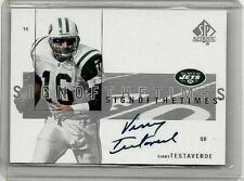 VINNIE TESTAVERDE 2001 SP AUTHENTIC SIGN OF THE TIMES CERTIFIED AUTOGRAPH