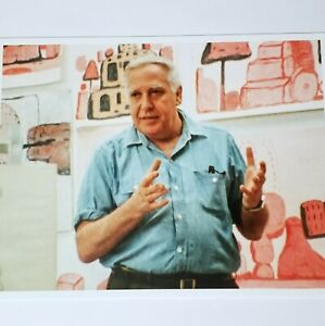 PHILIP GUSTON IN 1971 RESILIENCE ART PRINT SHOWCARD PHOTO Exhibition Fine Poster