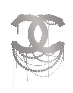 Chanel Silver Canvas Art Print 16 x 20   #3512