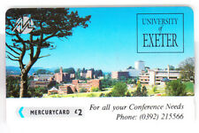 EUROPE  TELECARTE / PHONECARD .. U.K 2£ GPT 3PEXA  MERCURY EXETER UNIVERSITY