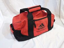 Adidas Gym Bag Duffel Sports Bag Red VTG Water Resistant
