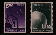 JAPAN #552-553 Mint Hinged 1952 SOUTH. CROSS FROM SHIP Earth Big Dipper CV  $19