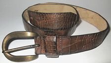 MENS TRUE RELIGION VINTAGE DISTRESSED BROWN LEATHER BELT SIZE M