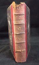 LIVRE POT BOUILLE D' EMILE ZOLA EDITION EUGENE FASQUELLE 1899 (B1339)