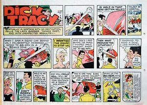 Dick Tracy by Chester Gould - large half-page color Sunday comic - July 13, 1975