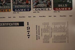 1977 miami dolphins season tickets intact