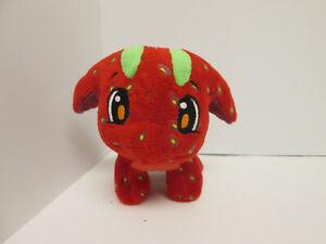 """Neopets Strawberry Poogle Plush Collectible Stuffed Animal 5"""""""