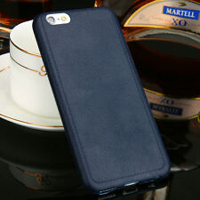 Ultrathin TPU Leather Grain Design Soft Back Case Cover For iPhone5 6 6s Plus CA