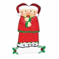 Pajama Couple Personalized Christmas Tree Ornament X-mass Noel Gift NEW