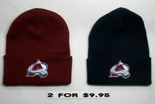 2 For $9.95! Colorado Avalanche Appliques on 2 cuffed Beanie cap hat!See Details