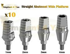 X10 Straight Abutment Wide Platform For Titanium Dental Implant Dentist Lab Hex