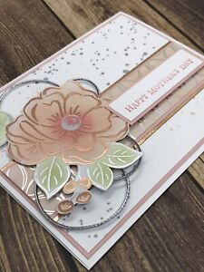 Stampin' Up Mother's Day Card Kit - Flowering Foils, Rose Silver, Blushing Bride