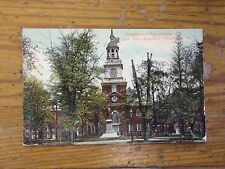 Vintage Postcard Independence Hall Showing Com. Barry Monument Philadelphia. Pa.