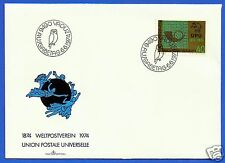 LIECHTENSTEIN, UNION POSTALE UNIVERSELLE 1974, FDC, VERY NICE FIRST DAY COVER