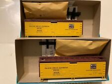 Lot (2) Athearn 5214 40ft WD Reefer PFE-WP #36448 Wood Reefer Western Pacific